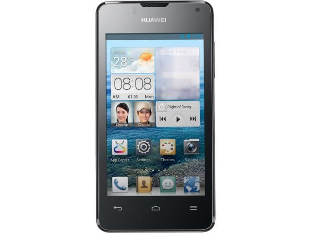 "Huawei Ascend Y300 4 GB, 512 MB RAM Unlocked Cell Phone 4.0"" Black"