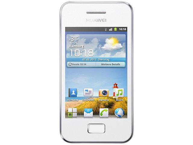 Huawei G7300 White Unlocked GSM Touchscreen Cell Phone