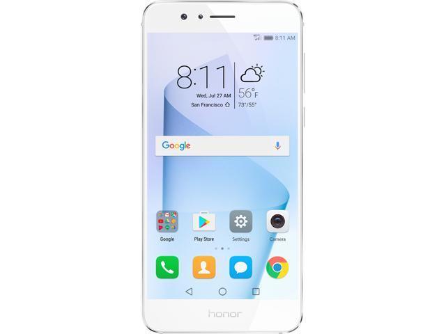 Huawei - Honor 8 Dual Camera Unlocked Smartphone 64GB Pearl White - US Warranty