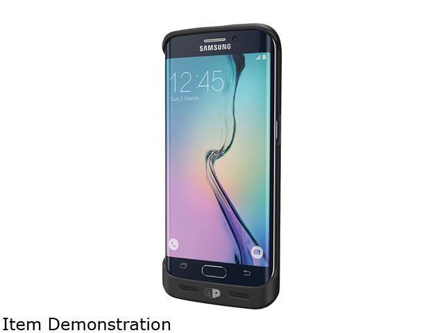 Press Play Black Samsung Galaxy S6 EDGE SURGE Battery Case PPSRGS6E-BLK