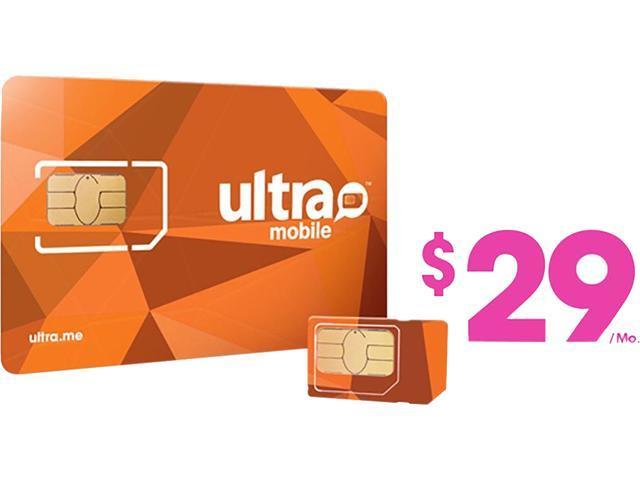 Ultra Mobile Triple Punch Orange Mini/Micro/Nano SIM Card - $29 (1 month of service included)