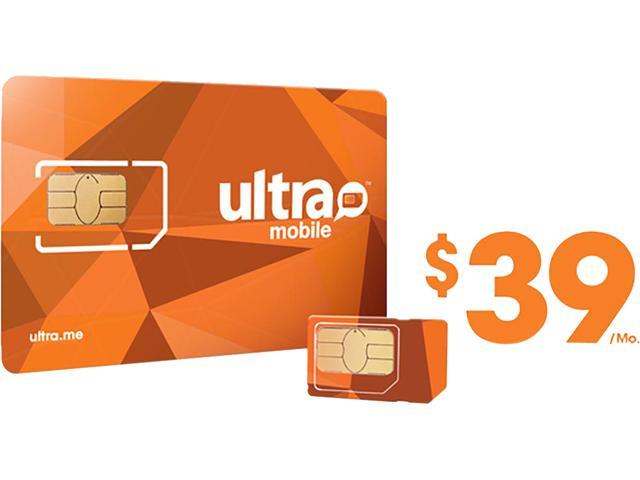 Ultra Mobile Triple Punch Orange Mini/Micro/Nano SIM Card - $39 (1 month of service included)