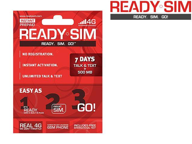 Ready SIM ARS-7TTD 7 Day Talk, Text & Data Plan