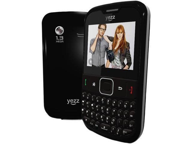 """Yezz Bonito YZ500 128 MB + 64 MB Unlocked Dual SIM Cell Phone 2.0"""" Black"""