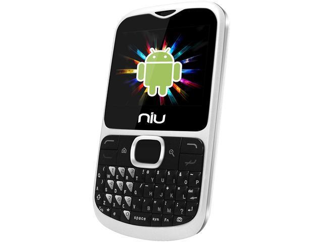 """NIU NiutekQ N108 256 MB ROM, 128 MB RAM Unlocked Dual SIM Cell Phone 2.3"""" White"""