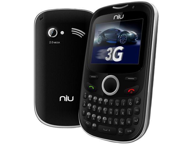 "NIU Pana 3G TV N206 128 MB + 32 MB Unlocked Dual SIM Cell Phone 2.0"" Silver"