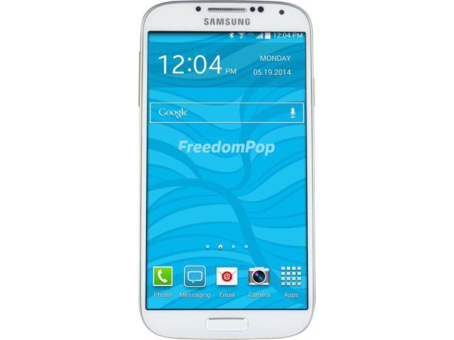 100% Free Mobile Phone Service w/ Samsung Galaxy S4 White - FreedomPop (Certified Pre-owned)