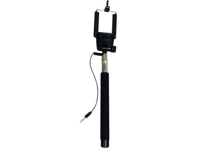 inland black wired remote selfie stick 02523. Black Bedroom Furniture Sets. Home Design Ideas