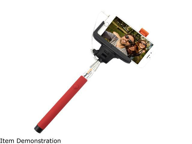 Rocksteady Red Wired Selfie Stick Wired Control SELFIE-WRD-RED