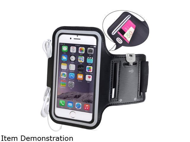 Avantree Armor Black Sports armband for iPhone 6 Plus (002P) with key & Earphone Holder KSAM-002P-BLK