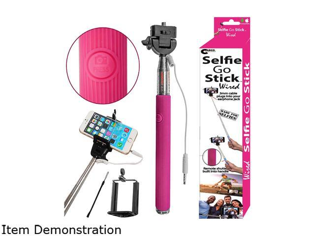 Carco Selfie Go Sticks Pink Wired Selfie Stick WSS03-PK