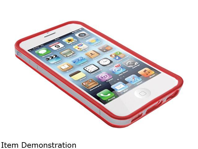 Inland Red Bump Case for iPhone 5 / 5s 02654