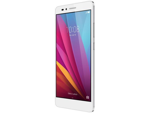 Honor 5X - Metal body, Fingerprint sensor, 5.5 Inch, 1080p FHD Display, 4G LTE, Unlocked GSM Smartphone - USA Warranty - 16GB Silver