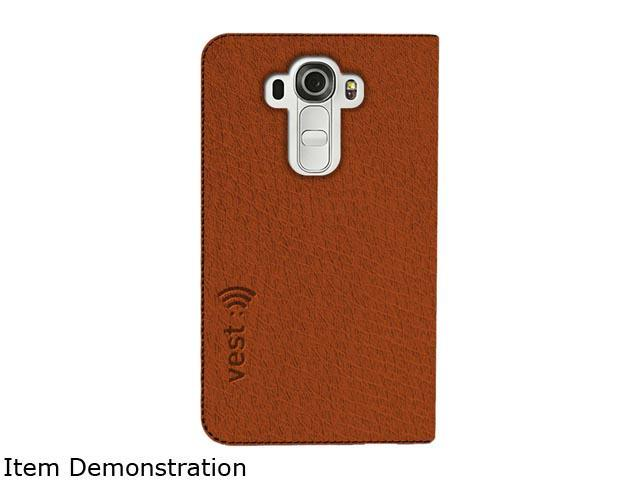 Vest Brown Anti-Radiation Wallet Case for LG G4 vst115054
