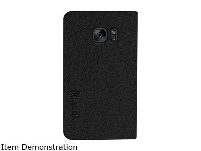 Vest Black Anti-Radiation Wallet Case for Samsung Galaxy S7 Edge vst115065