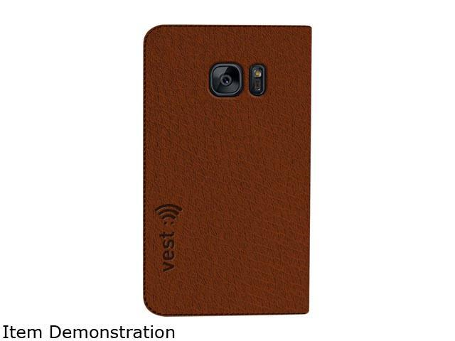 Vest Brown Anti-Radiation Wallet Case for Samsung Galaxy S7 Edge vst115067