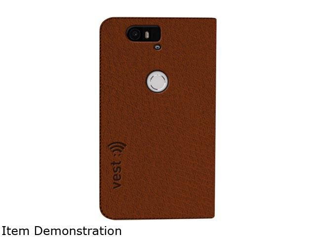Vest Brown Anti-Radiation Wallet Case Huawei Nexus 6P vst115084