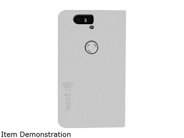 Vest White Anti-Radiation Wallet Case Huawei Nexus 6P vst115085