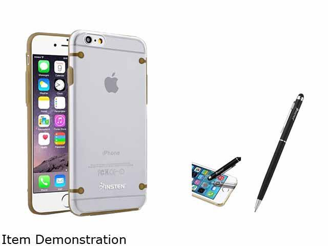 Insten Clear Hard / Gold TPU Rubber Bumper Frame Clip-on Cover Case For Apple iPhone 6 2055072