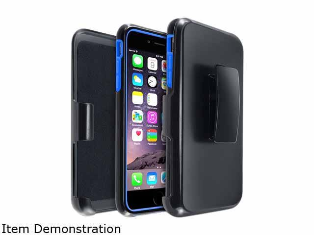 Insten Blue/Black Hybrid Stand Case Cover w/ Holster for Apple iPhone 6 Plus 5.5 1936395