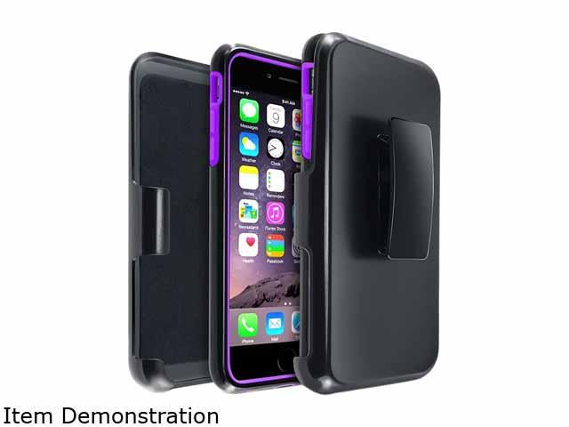 Insten Purple/Black Hybrid Stand Case Cover w/ Holster for Apple iPhone 6 Plus 5.5 1936392