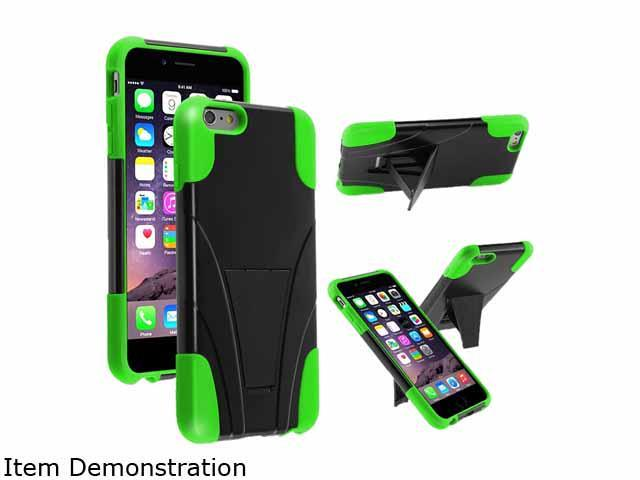Insten Black/Neon Green Hybrid T-Stand Case Cover for Apple iPhone 6 Plus 5.5 1938925