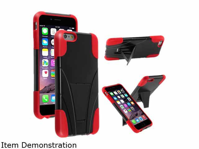 Insten Black/Red Hybrid T-Stand Case Cover for Apple iPhone 6 Plus 5.5 1938930