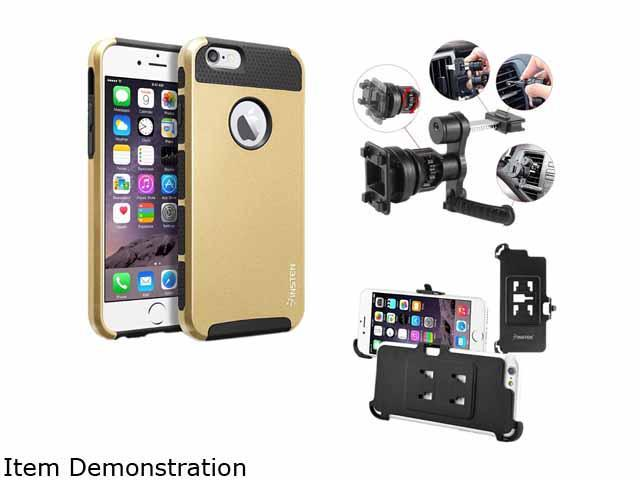 Insten New Black TPU/Gold Hard Hybrid Cover Case For Apple iPhone 6 4.7-inch 4.7 2055216
