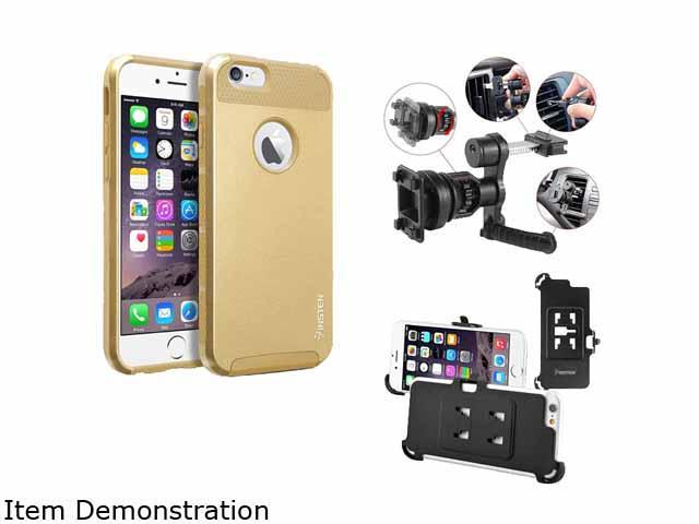Insten New Gold TPU/Gold Hard Hybrid Cover Case For Apple iPhone 6 4.7-inch 4.7 2055215