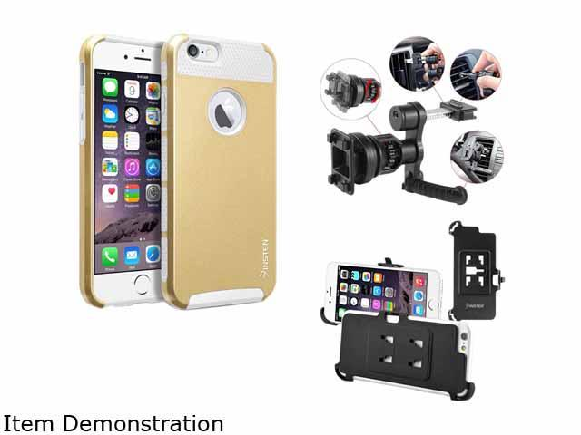 Insten New White TPU/Gold Hard Hybrid Cover Case For Apple iPhone 6 4.7-inch 4.7 2055217