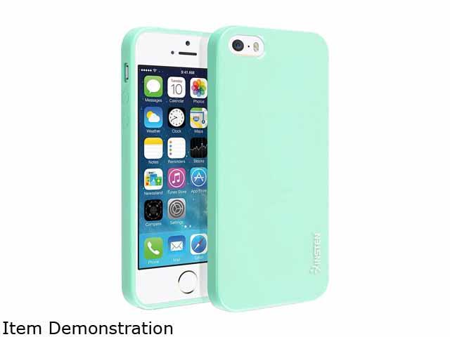 Insten Mint Green Jelly TPU Rubber Skin Case compatible with Apple iPhone 5S 1304357