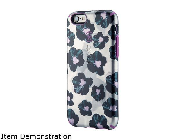 Speck Products CandyShell Inked Luxury Edition Platinum Posies/Beaming Orchid Purple Case for iPhone 6s & iPhone 6 73776-5039