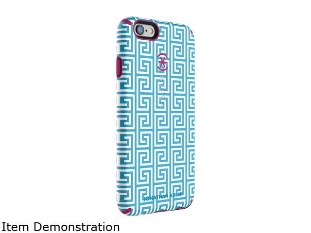 Speck Products CandyShell Inked Jonathan Adler AquaGreekKey/Lipstick Matte Case for iPhone 6 Plus / 6s Plus 74011-5129