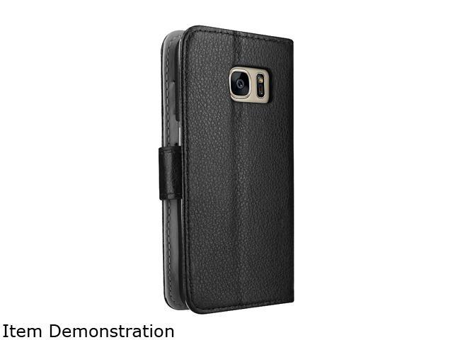 Insten Black Stand Folio Flip Leather [Card Slot] Wallet Flap Pouch Case Cover Compatible With Samsung Galaxy S7 2208770
