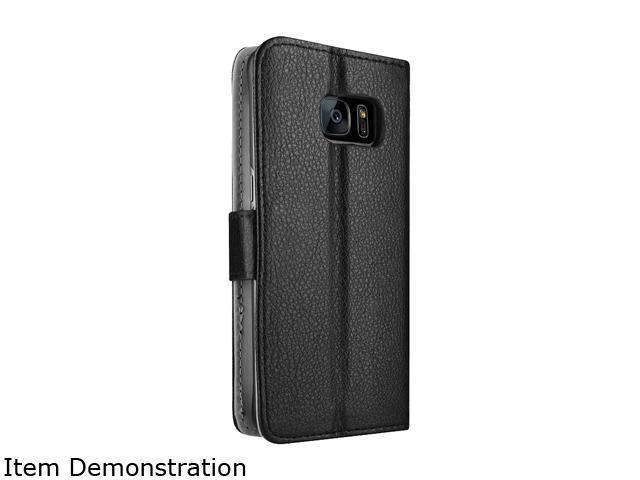 Insten Black Stand Folio Flip Leather [Card Slot] Wallet Flap Pouch Case Cover for Samsung Galaxy S7 Edge 2208771