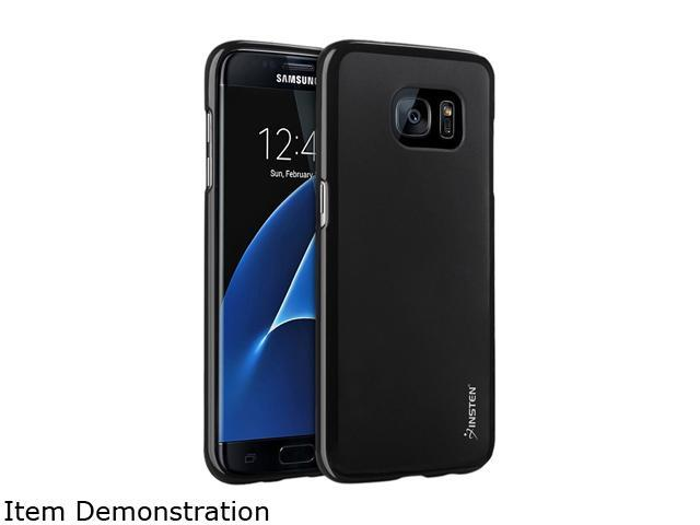 Insten Black Pudding TPU Rubber Candy Skin Case Cover Compatible With Samsung Galaxy S7 Edge 2209389