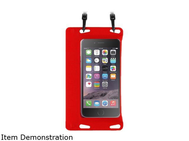 BasAcc Red Universal Double Sealing Waterproof Bag Case with Strap for Smartphones up to 5.5