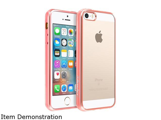 BasAcc Clear/Rose Gold TPU Rubber Candy Skin Case Cover Compatible With Apple iPhone 5 / 5S / SE 2224399
