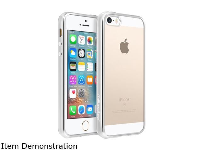 BasAcc Clear/Silver TPU Rubber Candy Skin Case Cover Compatible With Apple iPhone 5 / 5S / SE 2224401