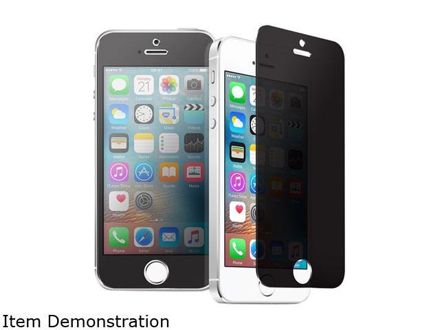 Insten Clear Privacy Anti-Spy Tempered Glass LCD Screen Protector Shield Guard Film for iPhone 5/ 5S/ SE 2232512