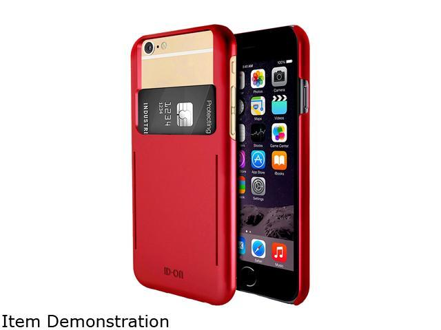 ID-ON STOR Metallic Red Credit Card Storage iPhone 6 / 6s Case STR-PC0914-MTR