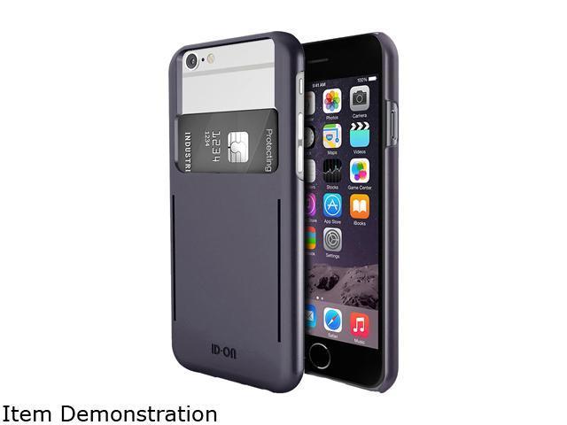 ID-ON STOR Metallic Gray Credit Card Storage iPhone 6 / 6s Case STR-PC0914-MTG