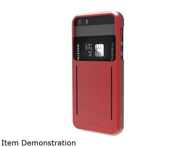 ID-ON STOR METALLIC Red Credit Card Storage iPhone 5/5s Case STR-PC0114-MTR