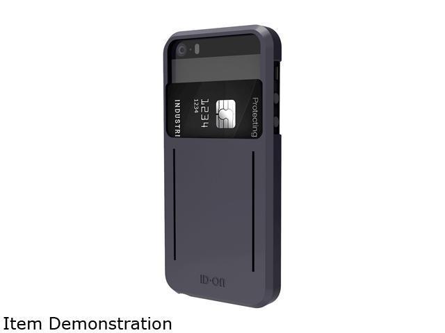 ID-ON STOR Metallic Grey Credit Card Storage iPhone 5/5s Case STR-PC0114-MTG