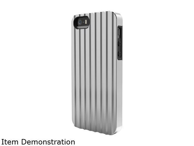 ID-ON CONTAINER Silver Dual Layered Metallic Case for iPhone 5 / 5s TRV-PC0813-SLV