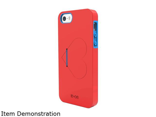 ID-ON LOVE Red / Blue Dual Layered Kickstand Case for iPhone 5 / 5s LHR-PC0813-RBL