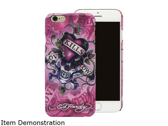 Choicee Love Kills Slowly Pink Ed Hardy iPhone 6 Case EHIP61121