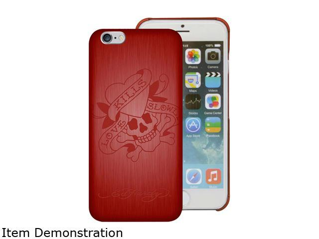 Choicee Metal Style Love Kills Slowly Red Ed Hardy iPhone 6 Case EHIP63021