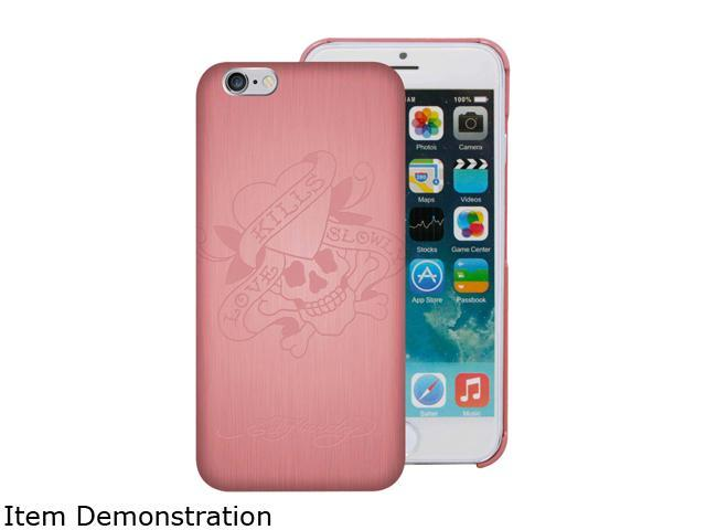 Choicee Metal Style Love Kills Slowly Pink Ed Hardy iPhone 6 Case EHIP63031