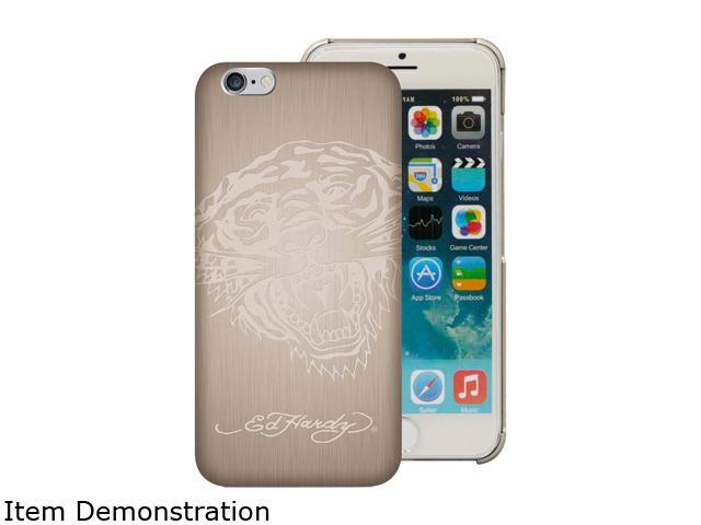 Choicee Metal Style Tiger Gold Ed Hardy iPhone 6 Case EHIP63041